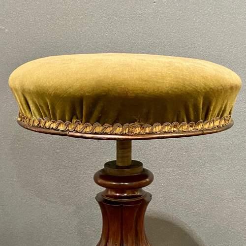 Victorian Mahogany Screw Top Piano Stool image-4