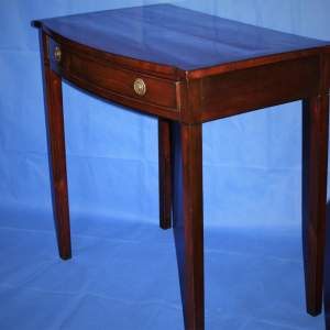 A Fine Victorian Bow Front Side Table with Single Drawer