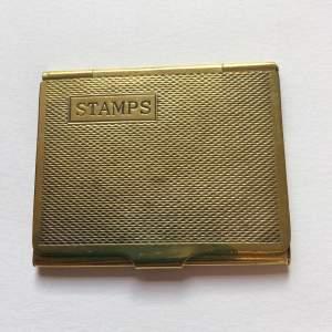 Art Deco Brass Stamp Box