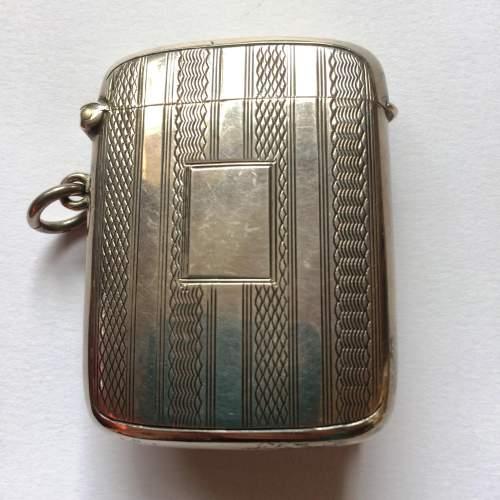 Art Deco Solid Silver Vesta Case image-1