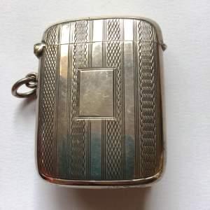 Art Deco Solid Silver Vesta Case