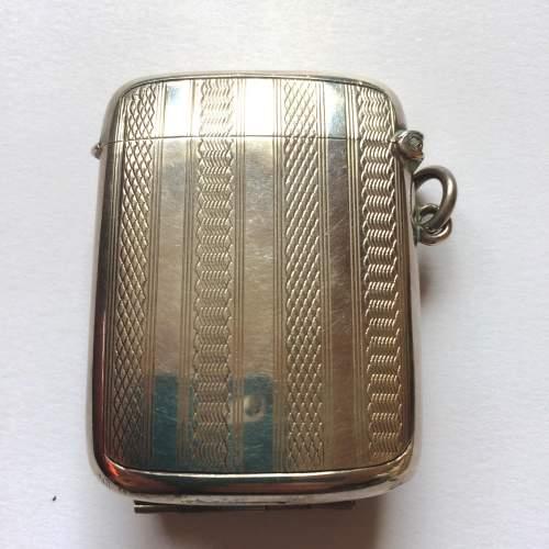 Art Deco Solid Silver Vesta Case image-2