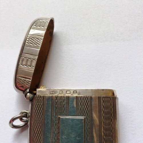 Art Deco Solid Silver Vesta Case image-3