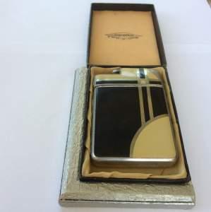 Art Deco Marathon Two in One Lighter and Cigarette Case