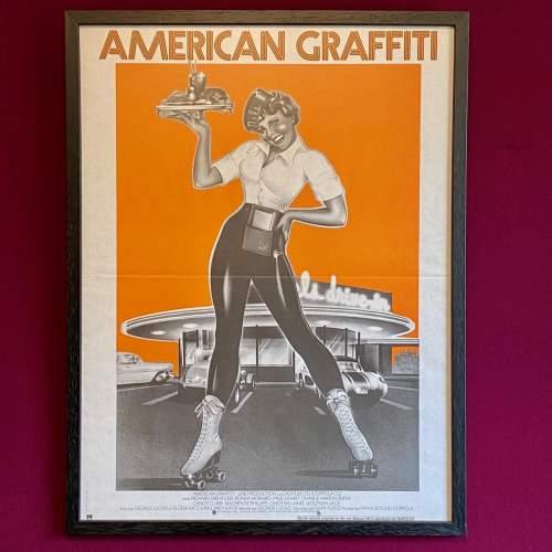 Rare Original Film Poster for American Graffiti 1973 image-1