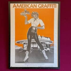 Rare Original Film Poster for American Graffiti 1973