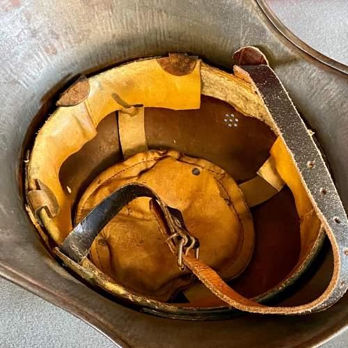 Original WWII German Helmet image-4