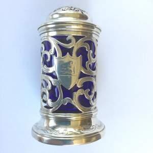 Early Victorian Silver Filigree Salt Cellar