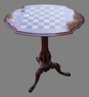 Early 19th Century Tilt Top Wine Table with Chess Board Top