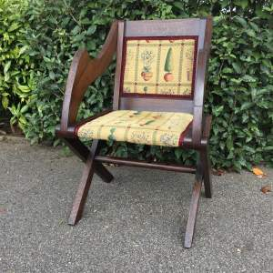 Glastonbury Oak Armchair Circa Late 19th Century