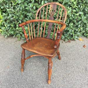 Late 18th Century Yew and Elm Windsor Chair