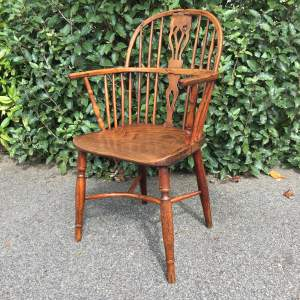 Yew and Elm Windsor Chair Circa Late 18th Century