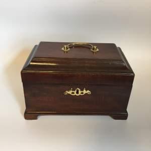 19th Century Mahogany Tea Caddy