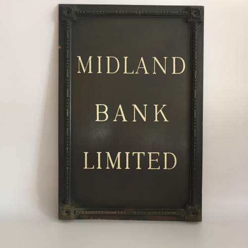 Midland Bank Limited Branch Sign Circa Late 1920s image-1