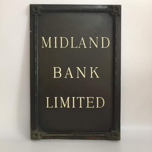 Midland Bank Limited Branch Sign Circa Late 1920s image-2