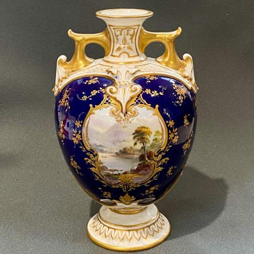 Beautifully Painted Royal Worcester Vase image-1