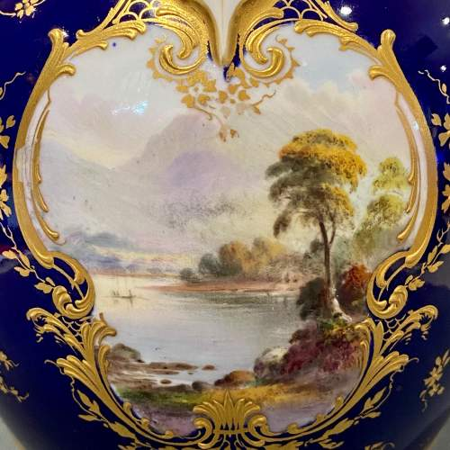Beautifully Painted Royal Worcester Vase image-2
