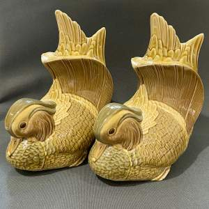 Pair of Lladro Mandarin Duck Bookends
