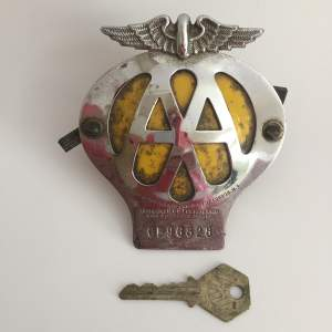 AA Car Badge with AA Box Key