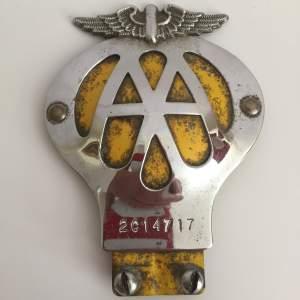 Vintage AA Car Badge