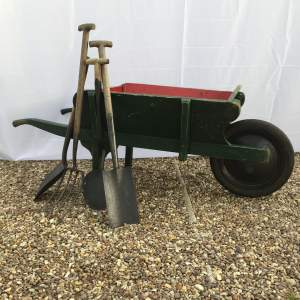 1930s Country Estate Made Oversized Wheelbarrow