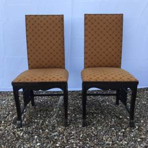 Unique Pair of Arts and Crafts Leonard Wyburd Design Chairs