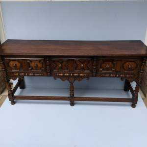 17th Century Style Oak Dresser Base Circa 1920