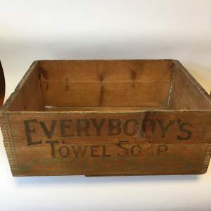 Everybodys Towel Soap Hodgson and Simpson Pine Advertising Crate