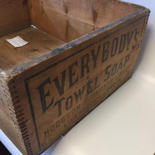 Everybodys Towel Soap Hodgson and Simpson Pine Advertising Crate image-2