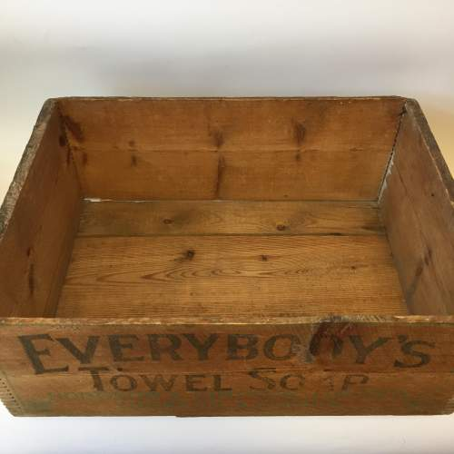 Everybodys Towel Soap Hodgson and Simpson Pine Advertising Crate image-3
