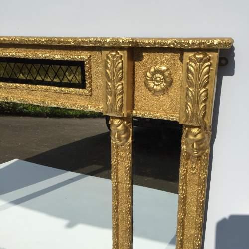 Regilded and Ebonised Over Mantel Mirror image-2