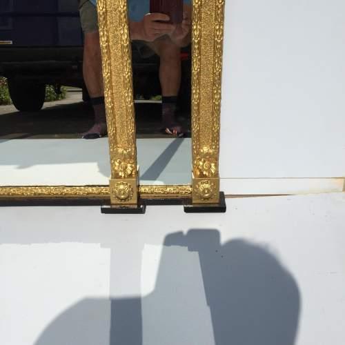 Regilded and Ebonised Over Mantel Mirror image-6