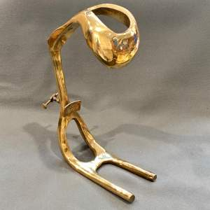 20th Century David Marshall Bronze Wine Pourer