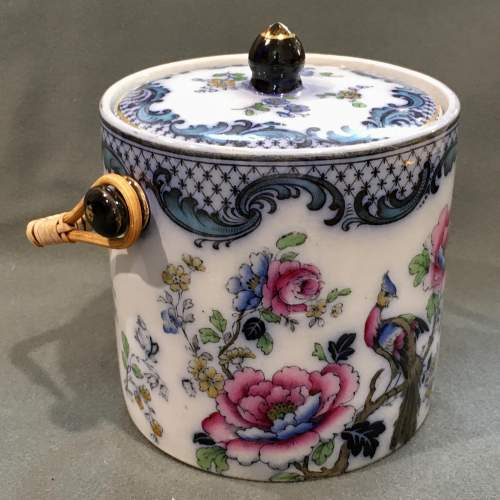 19th Century Losol Ware Biscuit Barrel image-1