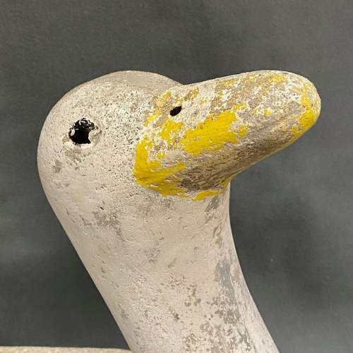 Pair of Mid 20th Century Painted Stone Duck Planters image-3
