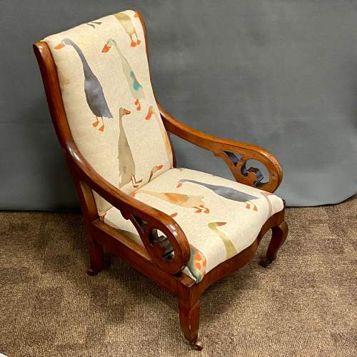 Victorian Mahogany Childs Armchair image-1