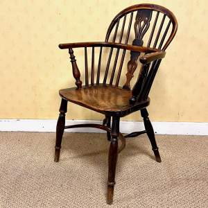 19th Century Rockley Yew Windsor Chair
