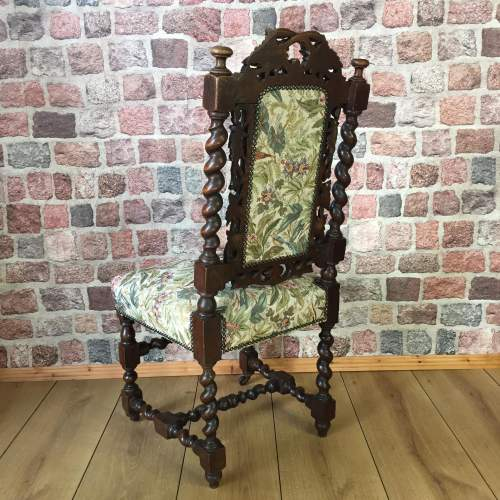 Victorian Hand Carved Oak Hall or Parlour Chair image-2