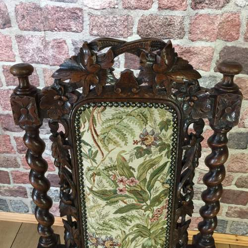 Victorian Hand Carved Oak Hall or Parlour Chair image-3