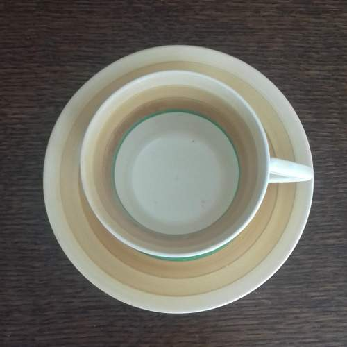 Clarice Cliff Art Deco Conical Banded Cup and Saucer image-2