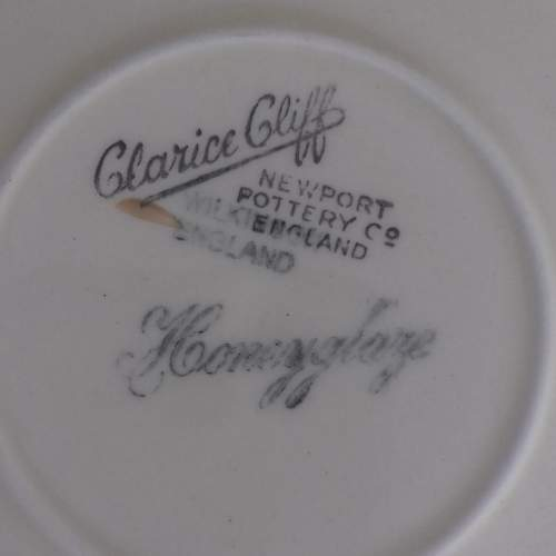 Clarice Cliff Art Deco Conical Banded Cup and Saucer image-4