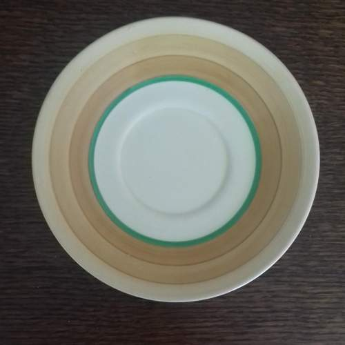 Clarice Cliff Art Deco Conical Banded Cup and Saucer image-5