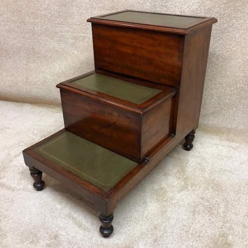 19th Century Mahogany Library Steps image-1