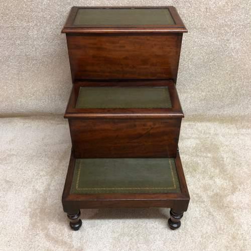 19th Century Mahogany Library Steps image-2