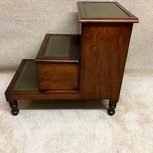 19th Century Mahogany Library Steps image-3