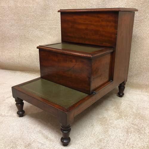 19th Century Mahogany Library Steps image-5