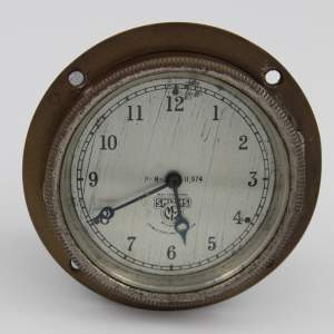 Smiths 8-day Car Dashboard Clock with Silvered Dial