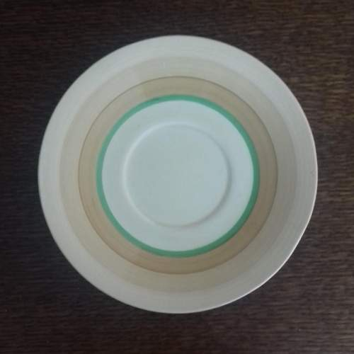 Clarice Cliff Art Deco Banded Conical Cup and Saucer image-6