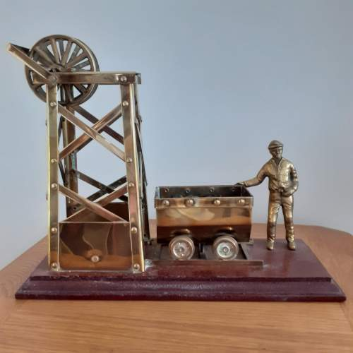 Large Brass Coal Mine Ornament image-1