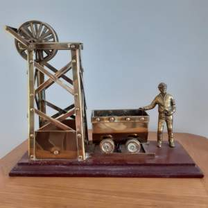 Large Brass Coal Mine Ornament